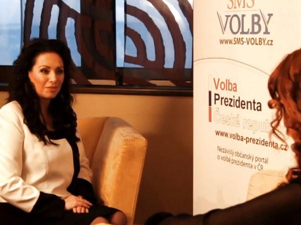 Jana Bobošíková odpovídá na osobní otázky pro Volba Prezidenta CZ