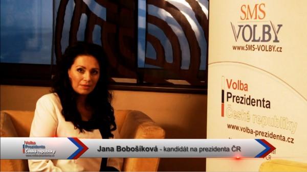 Předvolební video pozdrav kandidátky Jany Bobošíkové